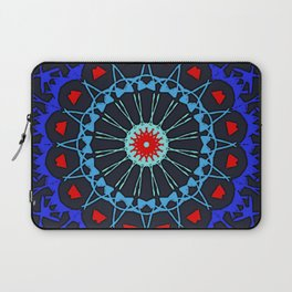 Renaissance ReBoot Mandala (Red & Blue) Laptop Sleeve
