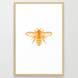 Funny Bee God Save The Queen Design Framed Art Print