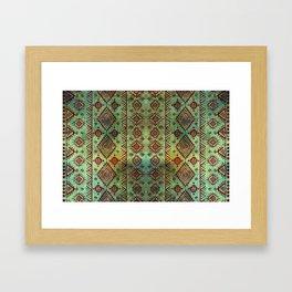 Aztec Heiroglyph Framed Art Print