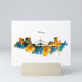 Winnipeg Skyline Mini Art Print