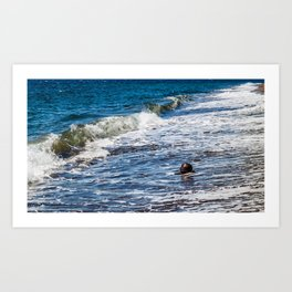 Waves vs Coconut Art Print