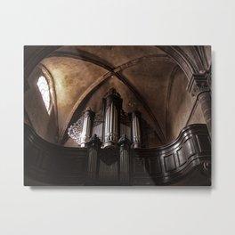 the church organ Metal Print