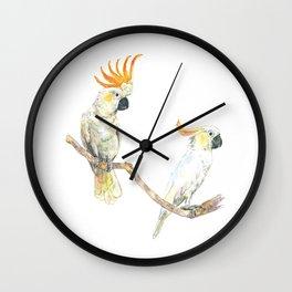 A couple of cockatoo Wall Clock