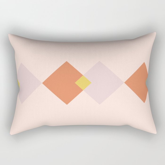 Vintage Geometric Diamonds - Tulip Rectangular Pillow