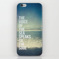 The Voice Of The Sea iPhone & iPod Skin