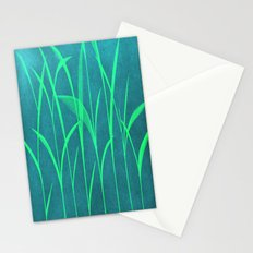 green grass Stationery Cards