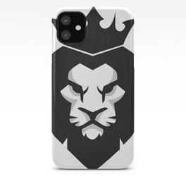 Black & White lion x Crown iPhone Case
