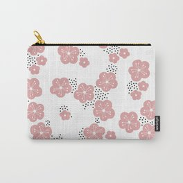 Hello spring Japanese cherry blossom love pink Carry-All Pouch