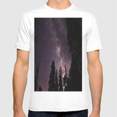 Milky Way MEDIUM Mens Fitted Tee White