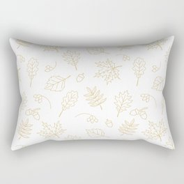 Autumn foliage pattern with gold leaves, acorns Rectangular Pillow