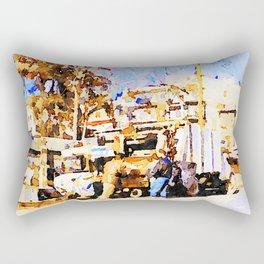 Aleppo: garbage collectors Rectangular Pillow