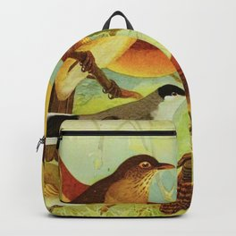 Amazonian birds by Göldi & Emil August, 1859-1917 Belem Brazil Colorful Tropical Birds Backpack