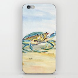 Colorful Blue Crab iPhone Skin