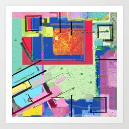 Superfly Muses No. 3 Contemporary Abstract Retro Art Print