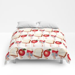 Lunch Ladies Pin-Ups Comforters