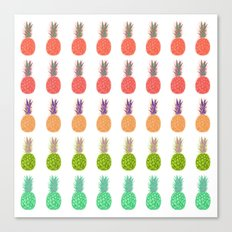Pineapples - Tropicana Canvas Print