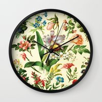 botanical Wall Clocks featuring Botanical by bbay