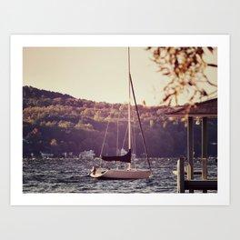 Sail Less Art Print