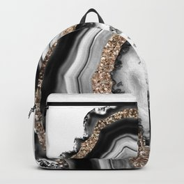 Agate Gold Glitter Glam #1 #gem #decor #art #society6 Backpack