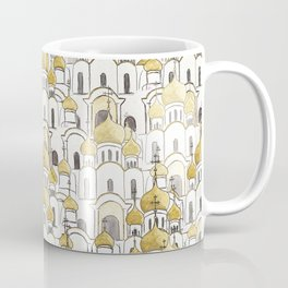 golden Russian cathedral church pattern Coffee Mug
