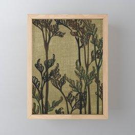 Vintage Curled Leaf Framed Mini Art Print