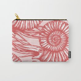 AMMONITE COLLECTION RED Carry-All Pouch