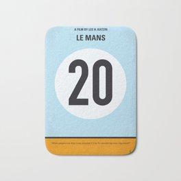 No038 My Le Mans minimal movie poster Bath Mat