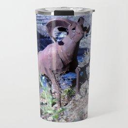 Metal Mountain Goat - Spokane, WA Travel Mug
