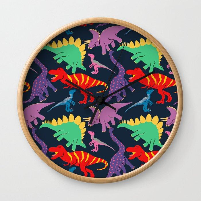 Dinosaur Domination - Dark Wall Clock