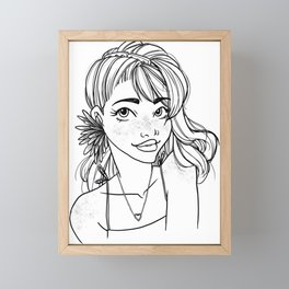 Flower Girl Framed Mini Art Print