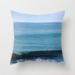 Beach Gloom Throw Pillow