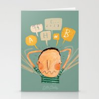 lucas david Stationery Cards featuring Lucas by Nacho Z. Huizar