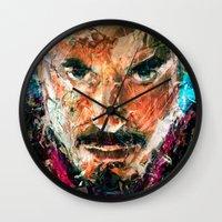 tony stark Wall Clocks featuring TONY STARK by DITO SUGITO