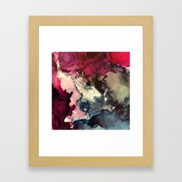 Dark Inks - Alcohol Ink Painting Framed Art Print