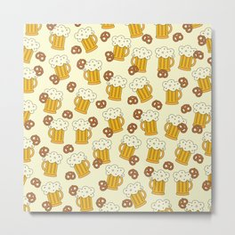 Beer and Pretzels Metal Print