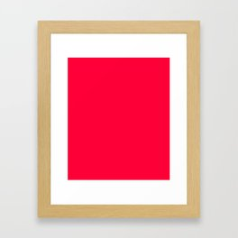 Carmine Red - solid color Framed Art Print