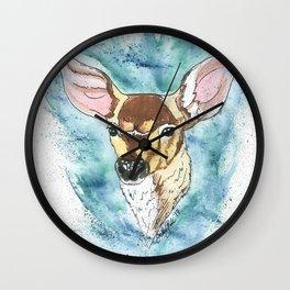 Spring Fawn Wall Clock