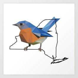 New York – Eastern Bluebird Art Print