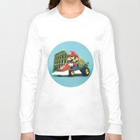 mario kart Long Sleeve T-shirts featuring Super Mario: the homecoming by josemanuelerre