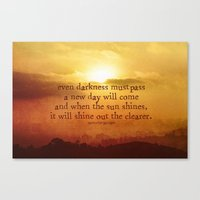 the lord of the rings Canvas Prints featuring LORD OF THE RINGS  by Brittney Weidemann