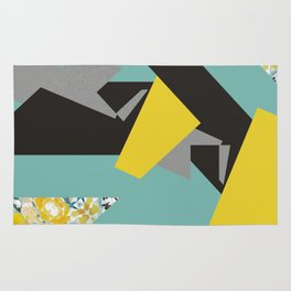 bee' flower geometric Rug