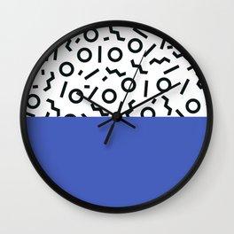 Memphis pattern 44 Wall Clock