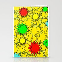yellow pattern Stationery Cards featuring Yellow pattern  by Vivian Fortunato