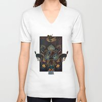 western V-neck T-shirts featuring Alchemical Western  by Paul Wolfe