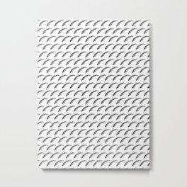 Black+White Foliage Metal Print