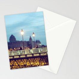 Paris at Night: Pont Neuf Stationery Cards