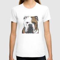 english bulldog T-shirts featuring English Bulldog  by ali_grace_gal