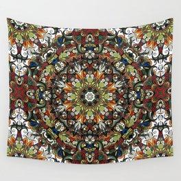 Boho Geometric Mandela Pattern 1 Wall Tapestry