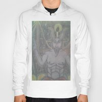 baphomet Hoodies featuring BAPHOMET by Kathead Tarot/David Rivera