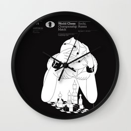 World Chess Championship Match Wall Clock
